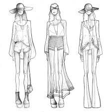 drawn fashion fashion drawing pencil and in color drawn fashion