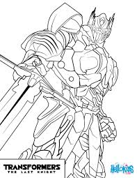 transformers optimus prime coloring page from the new transformers