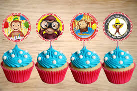 curious george cupcakes curious george cupcake toppers curious george birthday party