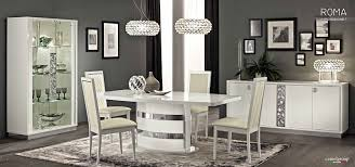Italian Lacquer Dining Room Furniture Roma Modern Italian White High Gloss Lacquer Dining Room Set Esf