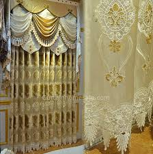 Victorian Curtains Romantic Victorian Curtain In Light Gold Velvet And Sheer