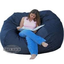 bean bags huge bean bag chair factory direct cozy sack 6 u0027 denim jean