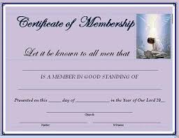New Member Certificate Template best photos of church membership certificate template printable