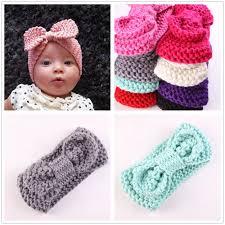 crochet baby headbands newborn turban ear winter warm headband crochet knitted hairband
