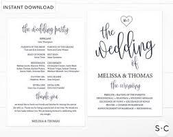 Wedding Ceremony Bulletin Template Navy Wedding Program Etsy