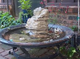 Fire Pit With Water Feature - glenda u0027s world make a water fountain using a copper fire pit
