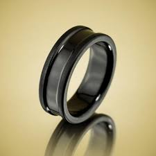 black wedding rings for him black zirconium wedding bands wedding rings s rings by