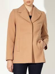 john lewis helena single breasted pea coat in brown lyst