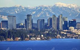Washington mountains images Bellevue lake washingtonn snowy cascade mountains seattle jpg