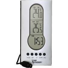 Patio Thermometer wired indoor outdoor thermometer with clock tireminder mri 122ag