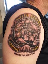 marine bulldog tattoo design photos pictures and sketches