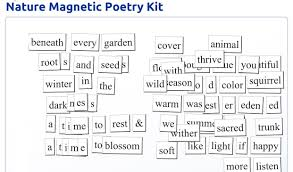 magnetic poetry like mercury colliding