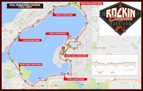 Boston Marathon Course Map by Full Marathon U2013 Rockin U0027 Chocolate Marathon
