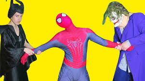 spiderman vs maleficent vs joker learning colors for kids