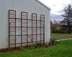 decorating grey wooden trellises for garden decoration ideas