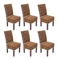 chaises en osier lot de 6 chaises m69 de salle à manger en osier achat vente
