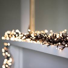 use this stunning length cluster light garland to add sparkle