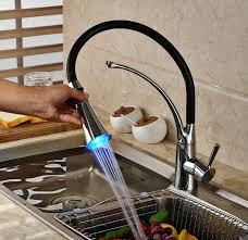 led kitchen faucet 84 00 buy temperature sensor 3 colors led kitchen faucet spray