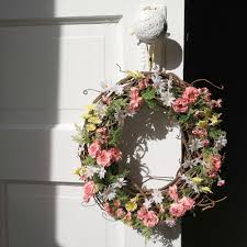 installing spring wreaths for front door spring wreaths for