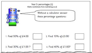 percentage worksheet for year 5 maths blog