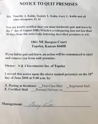 sle eviction notice late rent tenant eviction notice is retaliation cjonline com tenant