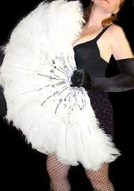 burlesque feather fans white feather burlesque feather fan