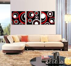 spirit up art huge red and black and white abstract art circles