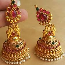 kerala style jhumka earrings 2022 best jewellery images on indian jewelry silver