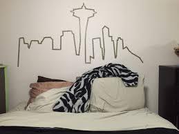 Tete De Lit Masking Tape Seattle Skyline Washi Tape Wall Bedroom Pinterest Washi Tape