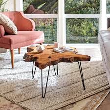 How Tall Should A Coffee Table Be by Wood Slice Coffee Table World Market