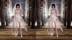 wedding dress skyrim haku wedding dress unp from mmd to skyrim at skyrim nexus