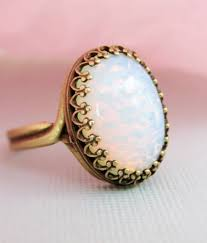opal october opal ring large pinfire opal ring october birthstone