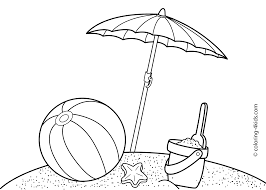 summer beach coloring pages for kids free printable coloring
