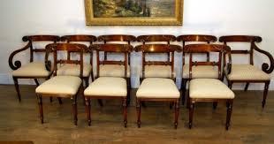 Antique Regency Dining Chairs Set 10 Regency Mahogany Carved Dining Chairs Seats Chair Dining
