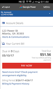 atlanta gas light pay bill georgia power apps on google play