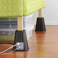 how to raise a bed 7 inch power bed riser set of 4 29 99 these power bed risers
