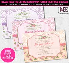 shabby chic bridal shower invitations metro events party