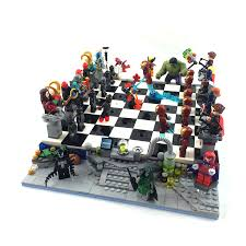 lego ideas marvel superheroes chess game