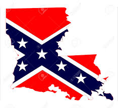 United States Map Outline by State Map Outline Of Louisiana With Confederate Flag Inset Over