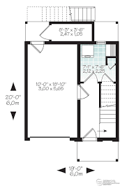 duplex plans for narrow lots house plan w1701 detail from drummondhouseplans com floorplan