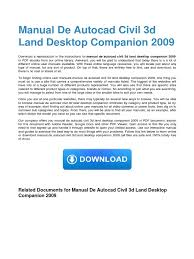 manual de autocad civil 3d land desktop companion 2009 auto cad