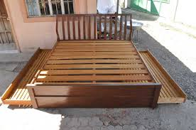 Mahogany Bed Frames King Size Mahogany Bed Frame With Pull Out