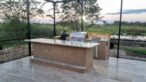big green egg built into outdoor kitchen big green egg table plans