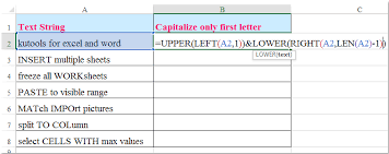 how to capitalize first letter only or first letter of each word