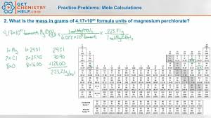 Molar Mass Calculations Worksheet Chemistry Practice Problems Mole Calculations Youtube