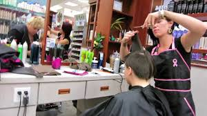 haircut on two girls long to pixie cut press like or comment