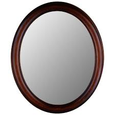 Wood Mirror Frame Oval Decorative Wall Mirror With Mahogany Finish Wood Frame 770