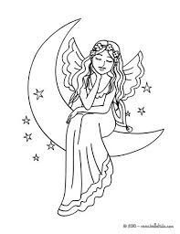 moon fairy coloring pages coloring