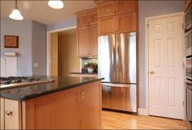 blue maple cabinets kitchen light blue walls with maple cabinets countertops and