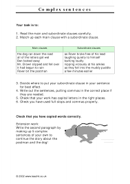 ks3 sentence construction teachit english